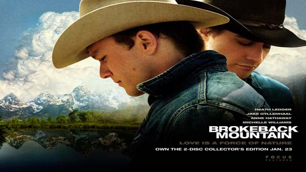 Brokeback Mountain (Heath Ledger and Jake Gyllenhaal), 2005